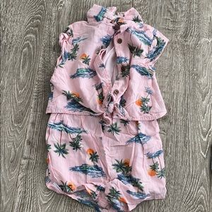 Old navy tropical Romper
